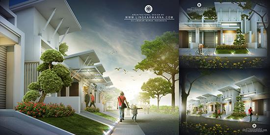 Desain rumah minimalis ukuran 8x15 meter 3 kamar tidur 1 lantai