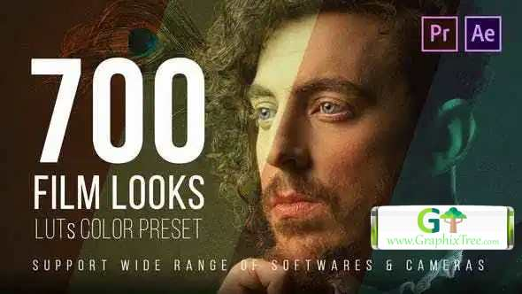 Videohive 700 Film Looks – LUT Color Preset Pack 25157078 [Last Updated 7 July 20]