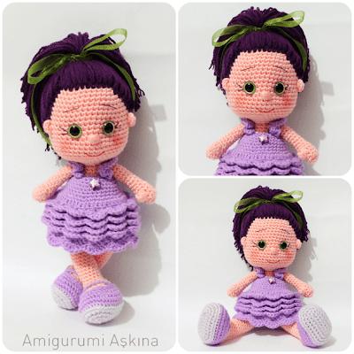 Yeniden Amigurumi Yıldız Bebek-Amigurumi Star Doll