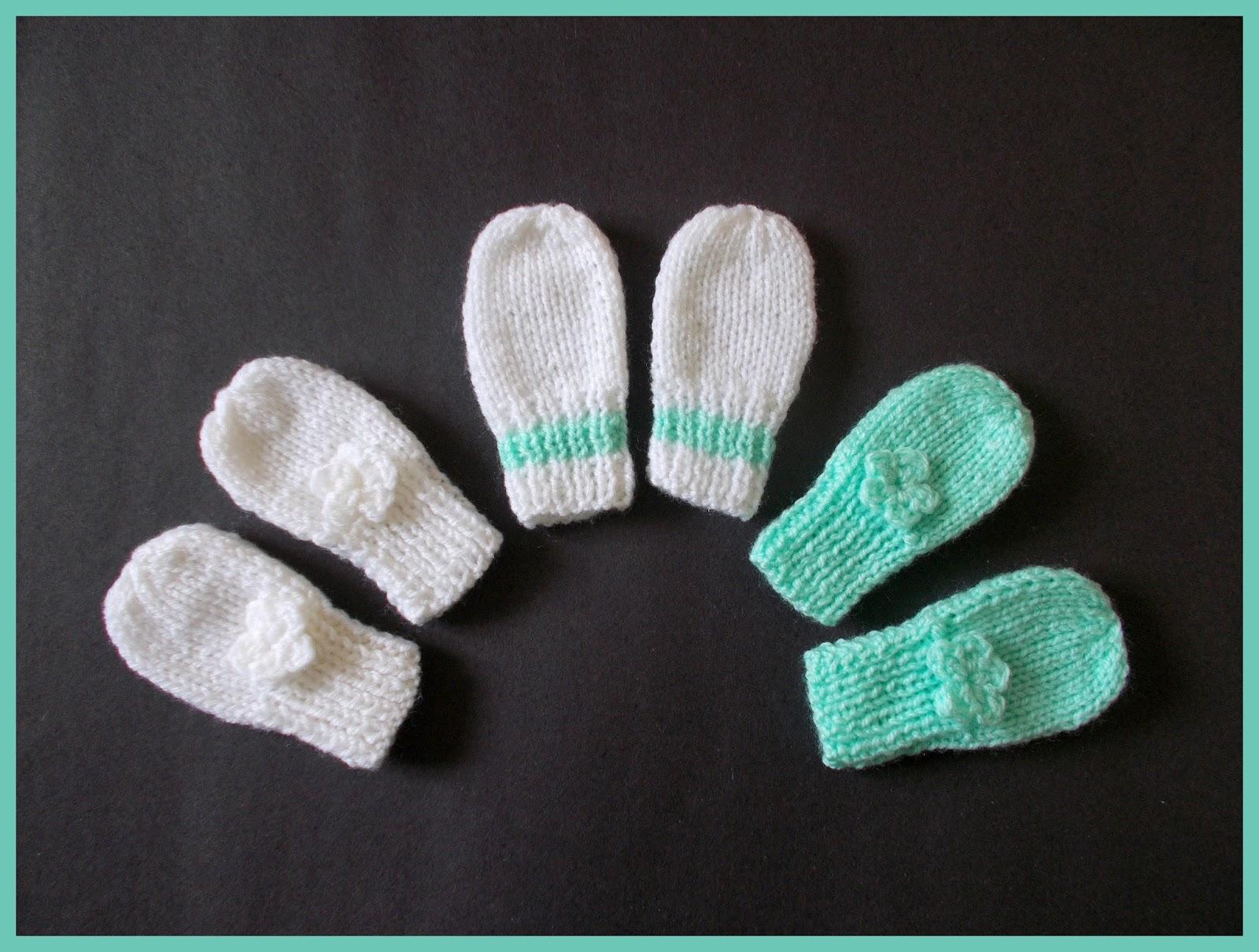 Marianna\'s Lazy Daisy Days: Simple Baby and Preemie Baby Mittens