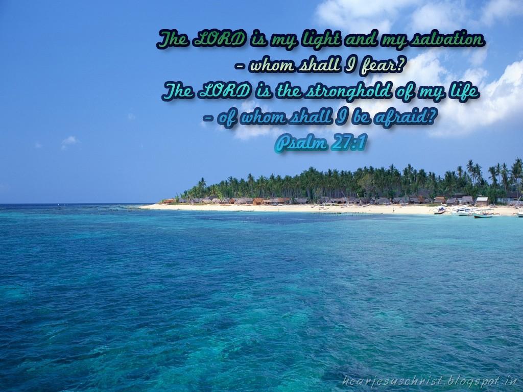 Christian Wallpapers: Bible Verse Wallpaper - Psalm 27:1