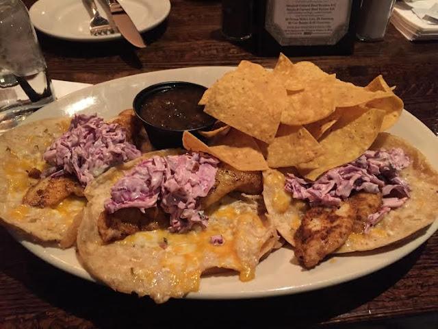 Catfish tacos at the Rackhouse Tavern