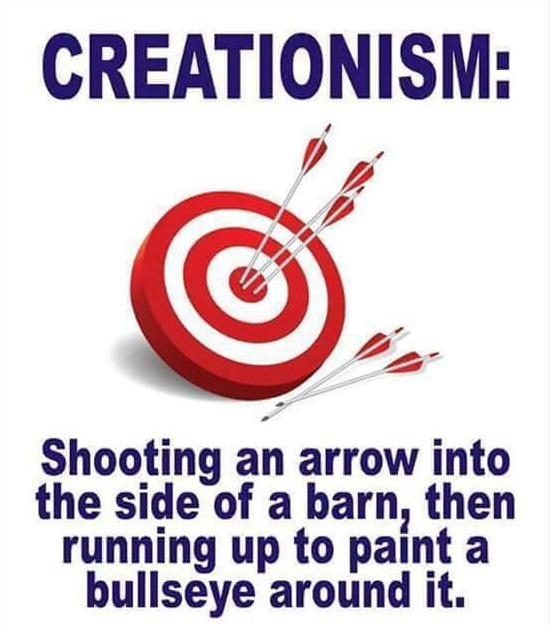 Creationism Bullseye meme picture