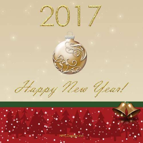 New York Web Design Studio, New York, NY: Happy New Year 2017 Cards ...