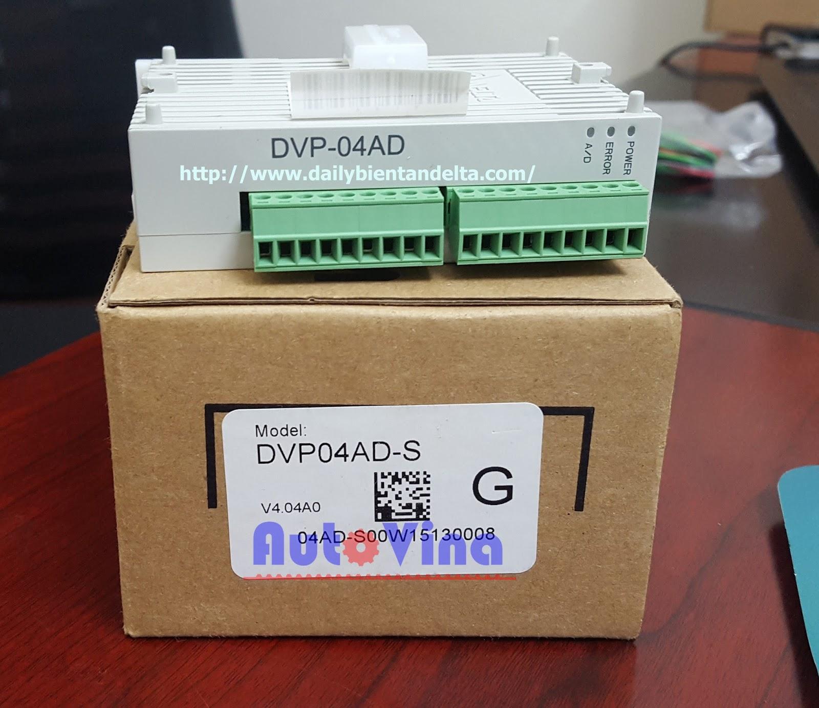 Đại lý bán module analog PLC Delta DVP04AD-S 4 ngõ vào analog