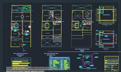 Expediente técnico de una vivienda unifamiliar - Plano instalaciones sanitarias