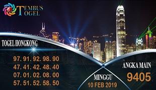 Prediksi Angka Togel Hongkong Minggu 10 Februari 2019