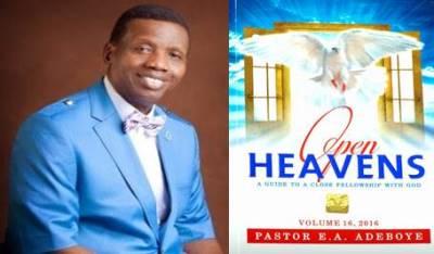 Open Heavens 3 November 2016: Thursday daily devotional by