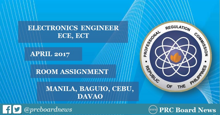 Room Assignment: ECE, ECT board exam April 2017 released