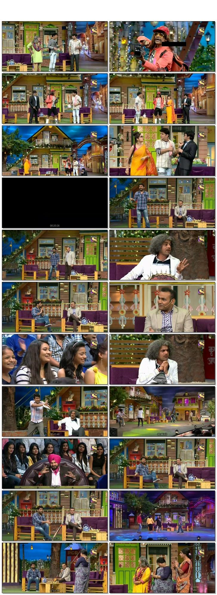 Screen Shot Of The Kapil Sharma Show 10th December 2016 Episode 66 300MB Watch Online