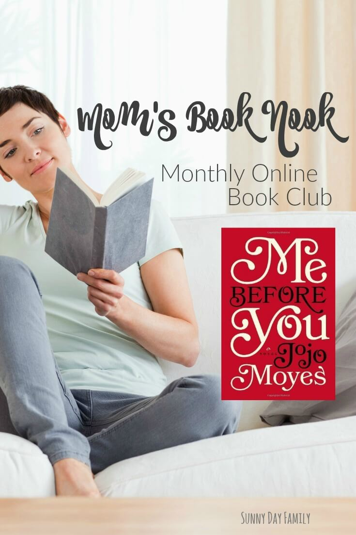 Read Me Before You by Jojo Moyes and join us for a monthly online book club! If you love to chat books but can't make it to a traditional book club, this is the place for you. Check it out!