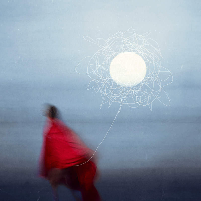 """Moon catcher"" from the fine art photography series ""The traveler"" by Alessandra Favetto"