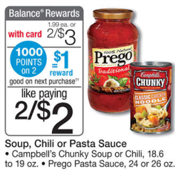 Prego Sauce just $.25 at Walgr...
