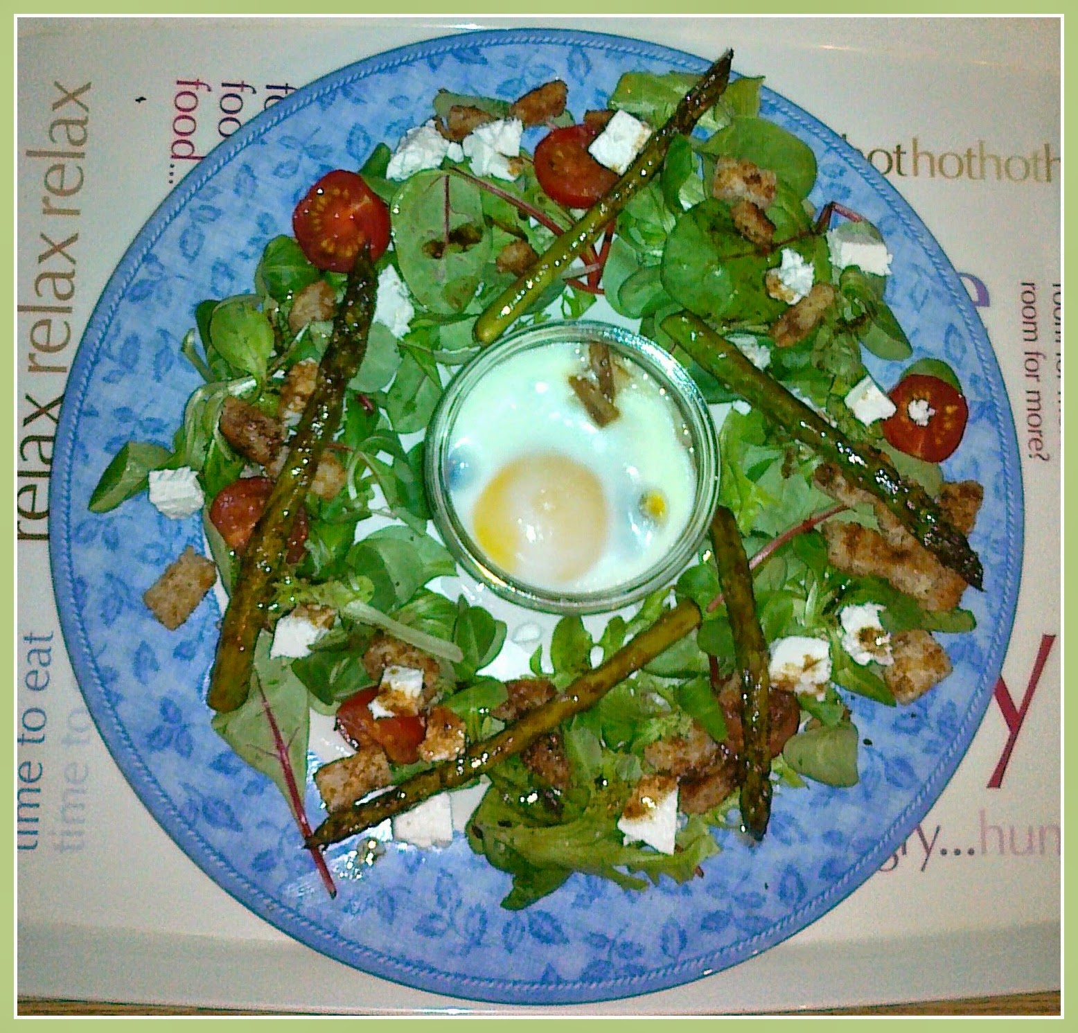Asparagus Salad with Baked Egg