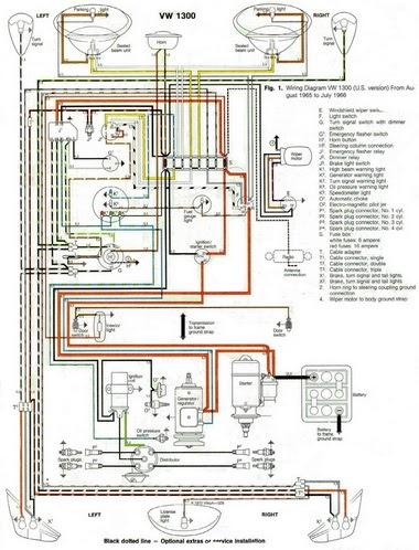 Auto Charging System Wiring Diagram Cabinet Door Free Diagram: 1966 Vw Beetle 1300