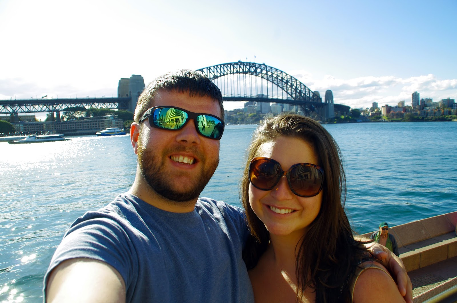 Flashpackers at Sydney Harbour Bridge