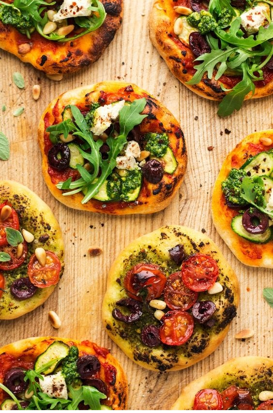 Vegan Mini Pizzas