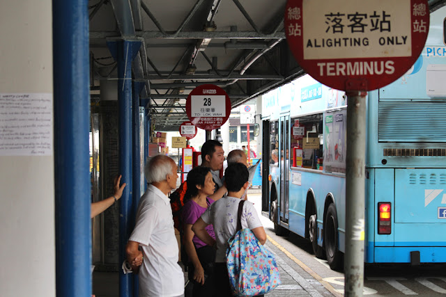 Bus stop in Hong Kong - Asia travel blog