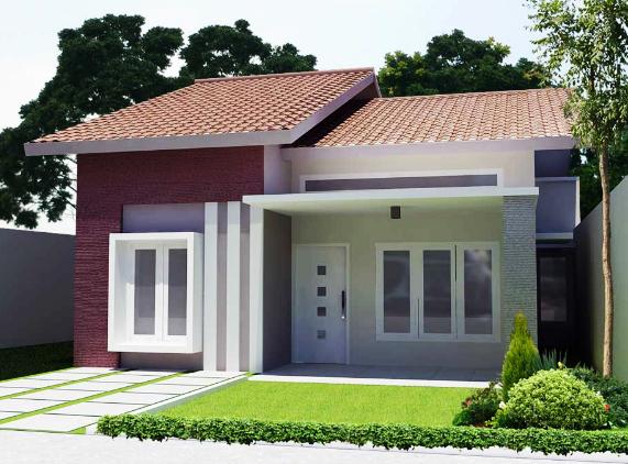 01. Desain taman minimalis di teras rumah