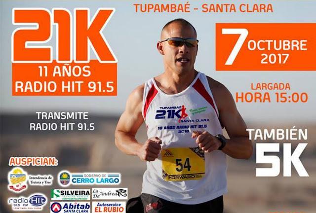 21k y 5k Media maratón Tupambaé a Santa Clara (Treinta y tres, 07/oct/2017)