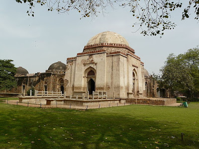 Firoz Shah's Tomb in the Hauz-i-Khas village at Old Delhi