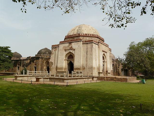 Firoz Shah's Tomb in the Hauz-i-Khas village at Old Delhi