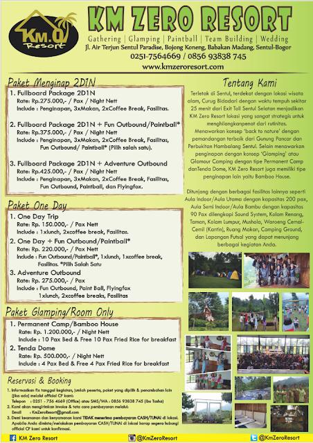 Brosur KM Zero Resort - Blog Mas Hendra