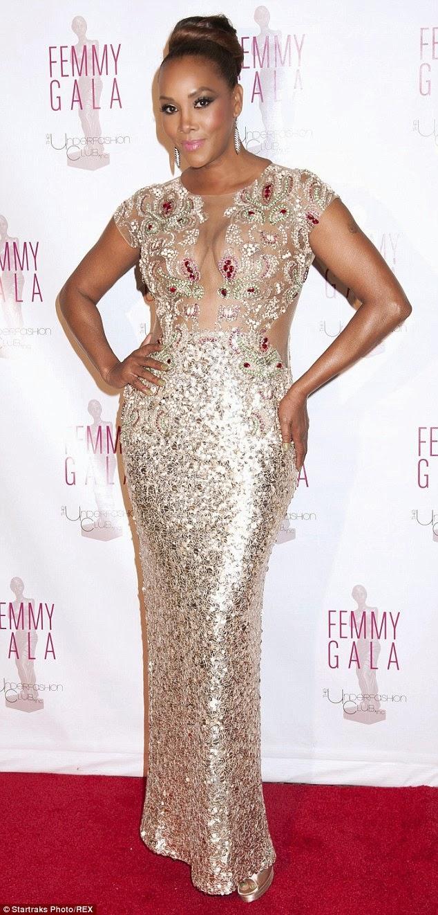 Vivica A Fox In Sheer Dress To Host Underwear Industry S Awards Night