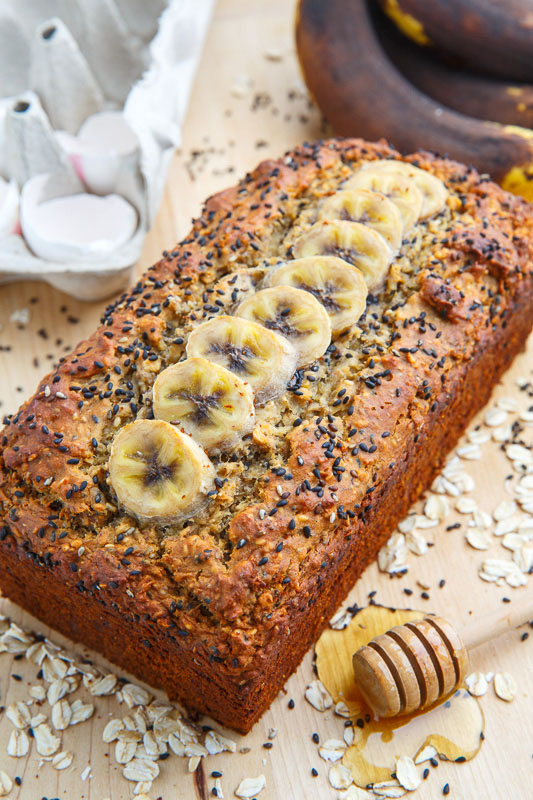 Sesame Chia Banana Bread With Honey And Tahini Recipe On