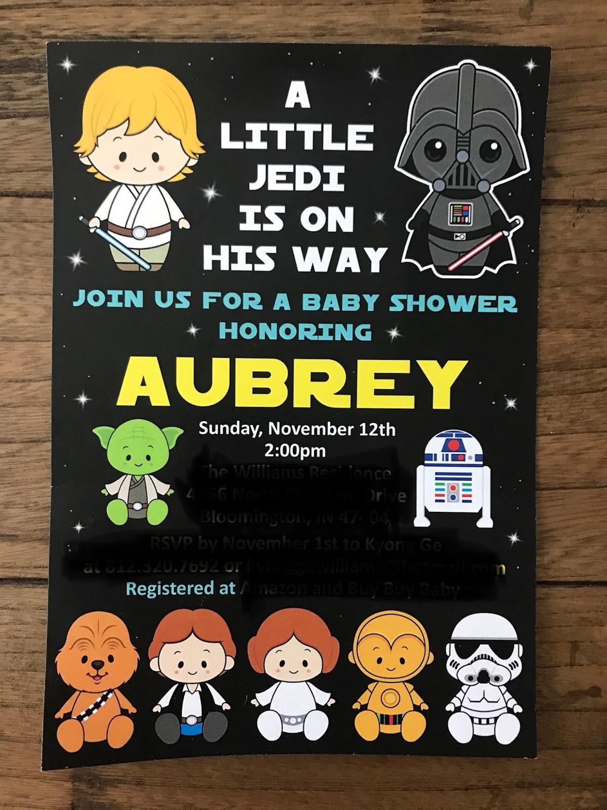 Always Aubrey A Star Wars Baby Shower