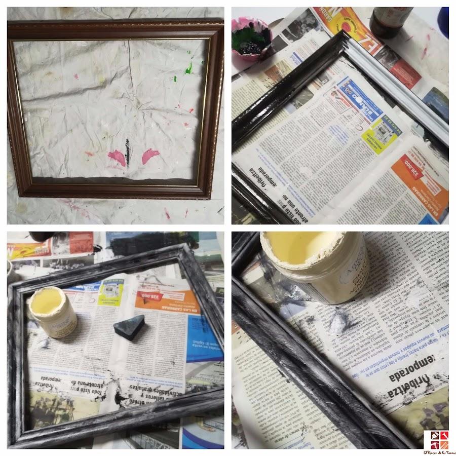 reciclar un marco de un cuadro