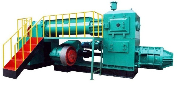Brick making machine: Vacuum extruder, double stage, Split type