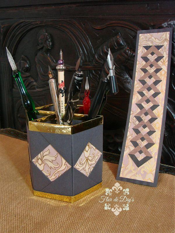 marcapaginas-y-portalapices-de-origami-flor-de-diys