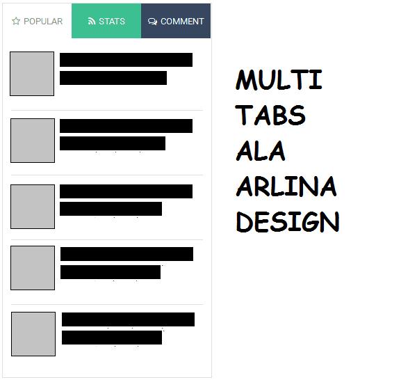 Multi Tabs Ala Arlina Design