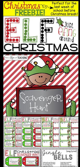 Elf Christmas Scavenger Hunt Game