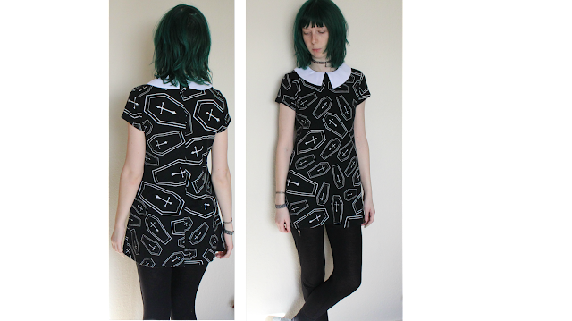 Coffin Dress, Coffin Print,