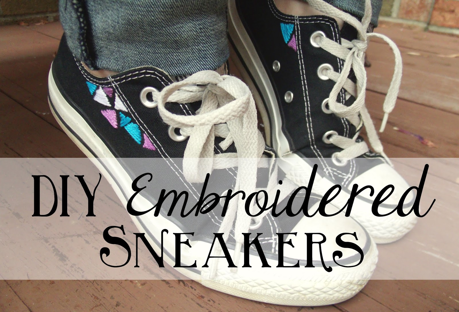 fe01cf213660 DIY  Embroidered Sneakers +  40 Target Giveaway!
