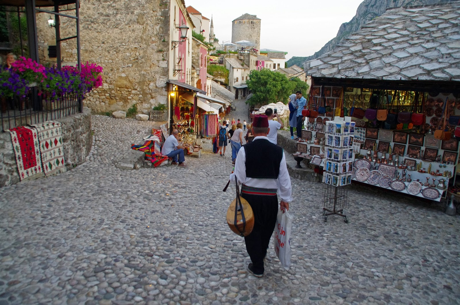 Cobblestoned Old Town Mostar
