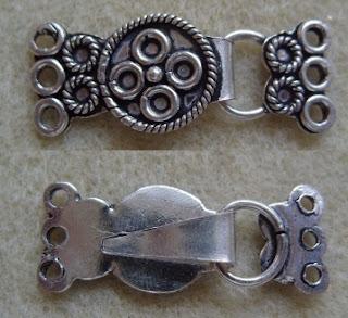 large antique silver jewellery clasp