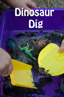 An Easy Dinosaur Dig for Kids to do at Home