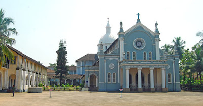 Rosario Cathedral or the Lady of Rosary Cathedral at Pandeshwar on the way to Hoige Bazar