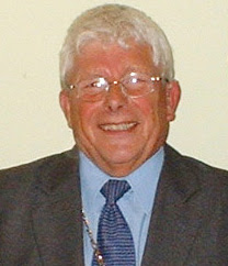 The only Freeman of Brigg - Tom Glossop, a former long-serving town councillor - picture on Nigel Fisher's Brigg Blog