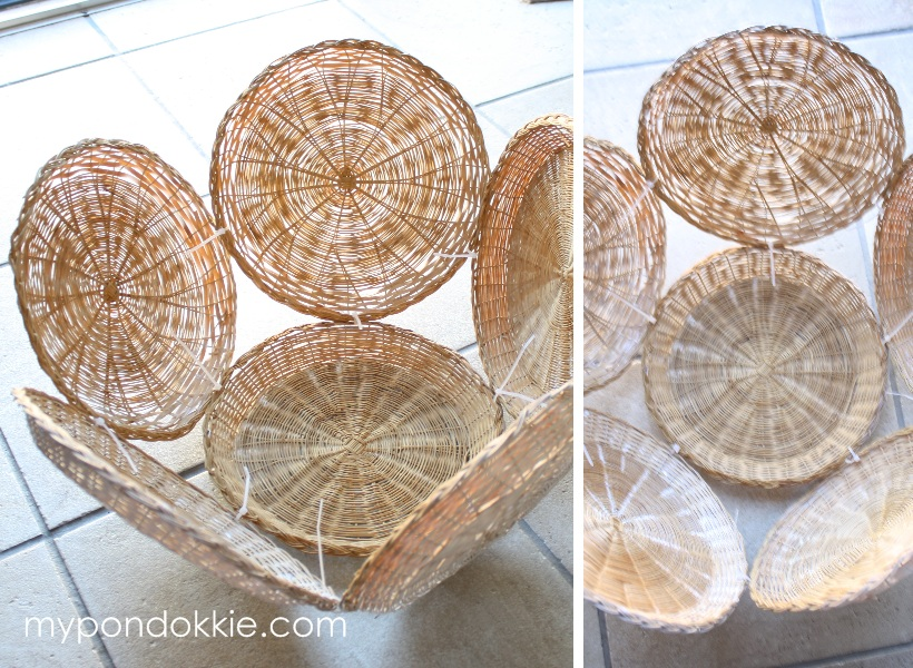 Preferred My Pondokkie: PAPER PLATE HOLDER LAMPSHADE RD46
