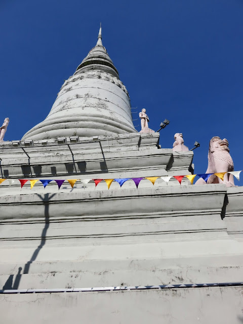 Buddhist Temple Wat Phnom in Phnom Penh Cambodia