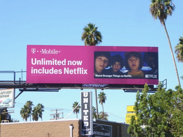 TMobile Unlimited Netflix Stranger Things billboard