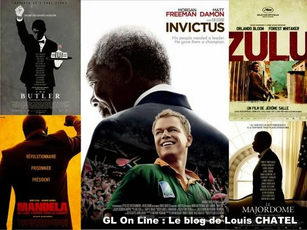Mosaïque avec les films sur Mandela