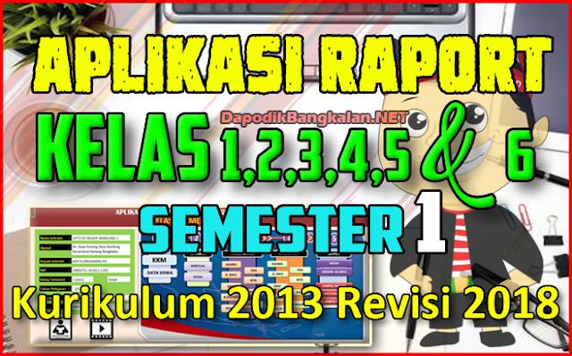 Aplikasi Rapor SD Semester 1 Kurikulum 2013 Revisi 2018