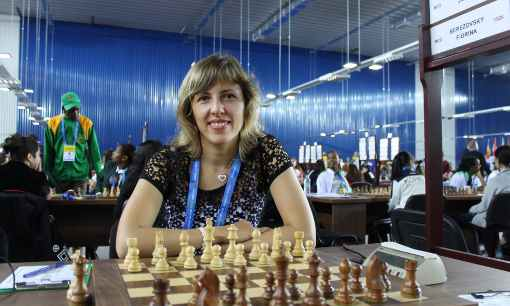 Tatiana Dornbusch au 1er échiquier de Monaco - Photo © Chess & Strategy