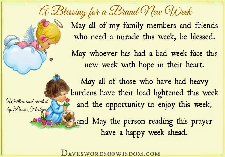 Blessing For Monday, May The Lord Be With You During The ...  Weekly Blessings
