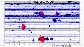 Seismik Gunung Agung Saat Terjadi Letusan